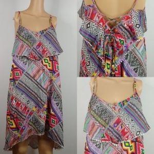Billabong Tribal Patchwork Babydoll Sun Dress